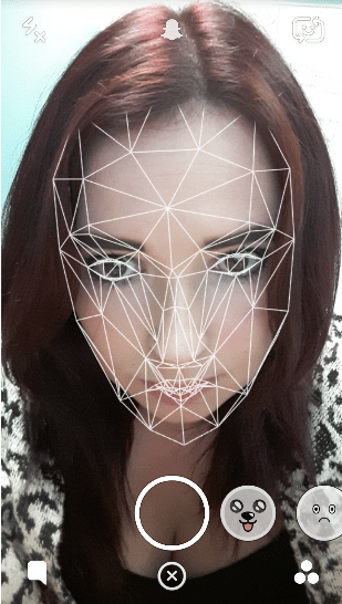 snapchat filters face map
