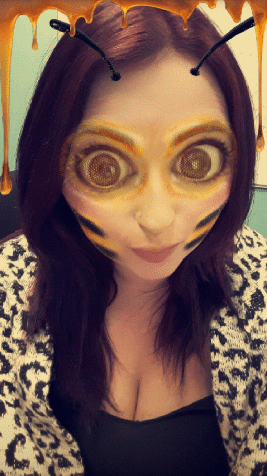 snapchat filters bee