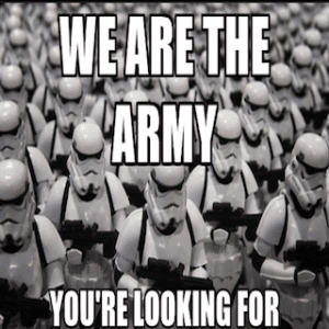 Our army of troops storm our social media management.