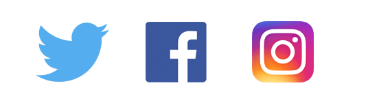 social advertising twitter facebook instagram