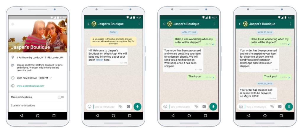 whatsapp business example