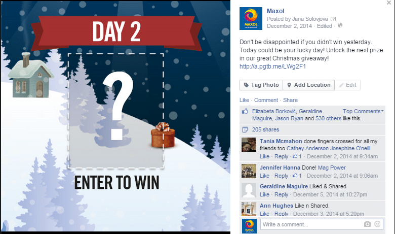 Christmas giveaway ideas for facebook