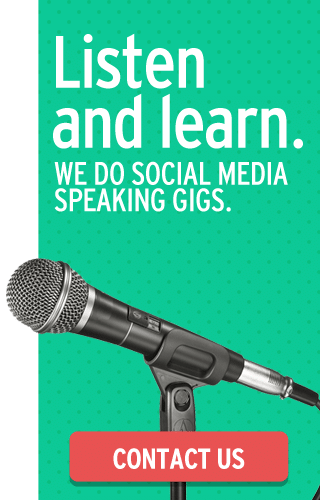 We do social media speaking gigs