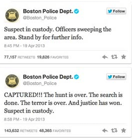 Boston Police Tweet About Marathon