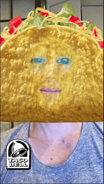 Snap Ad Taco Bell Lens
