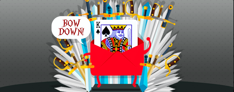 king email on the throne
