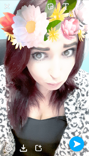 snapchat filters flowers