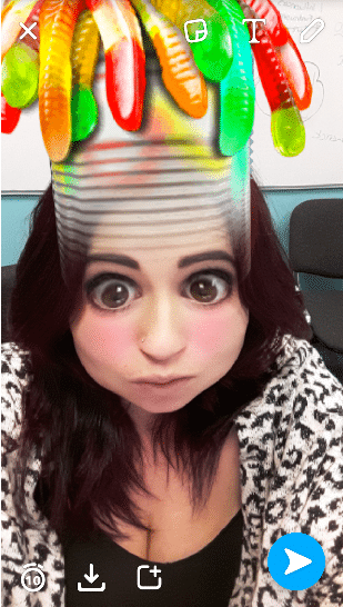 snapchat filters gummy bears