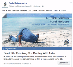 facebook ads case study early retirement on facebook