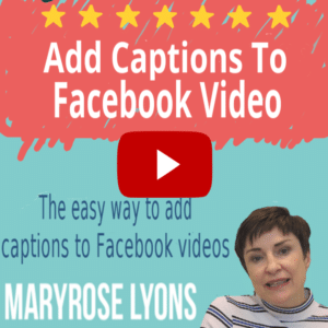 add captions to facebook video