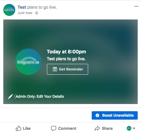 live stream pre-recorded video to facebook live via obs