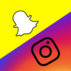 Instagram & Snapchat. Because they\'re where it\'s at.