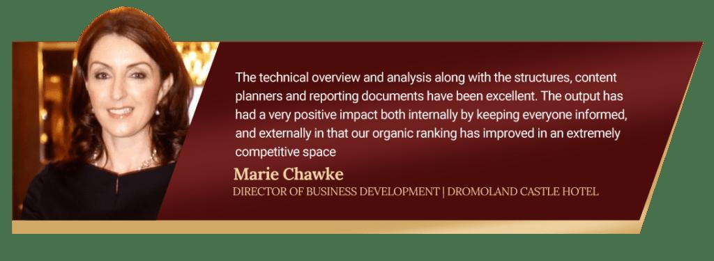 Marie Chawke Dromoland Testimonial