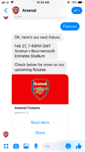 arsenal chatbot