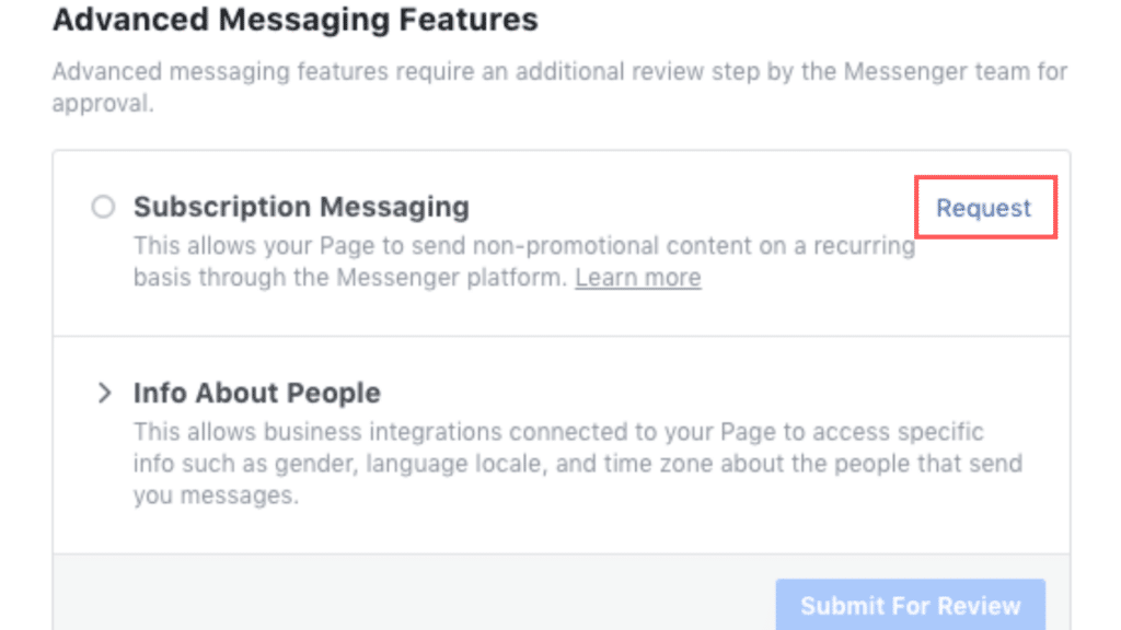 Subscription messaging