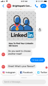 brightspark consulting chatbot