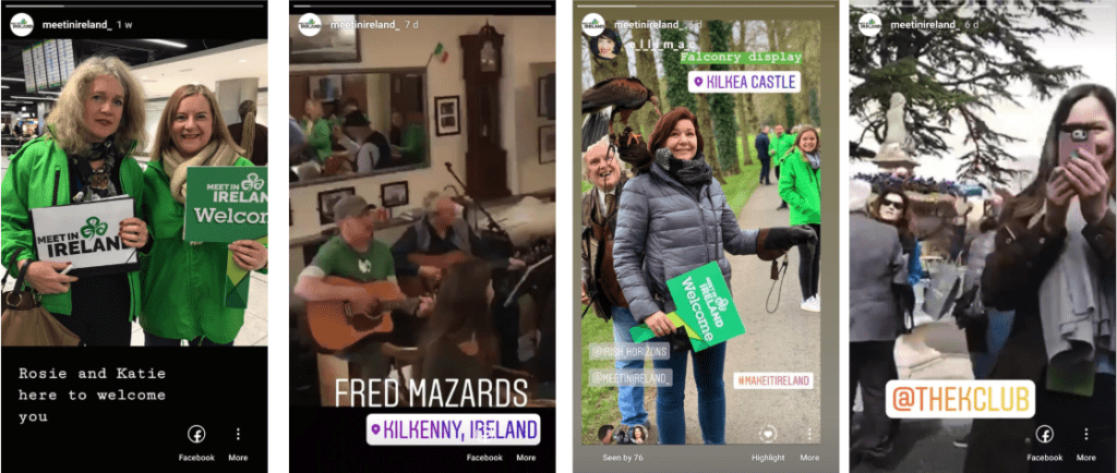 Instastories for Failte Ireland